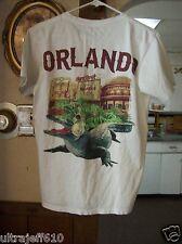 Vtg HRC Hard Rock Cafe Orlando T Shirt sz small Florida Alligator Headphones
