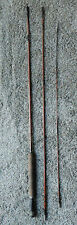 "VINTAGE WEBER MONOGRAM SPLIT BAMBOO FLY FISHING ROD 3 PIECE 8""- 6"" ~  FISH LURE"