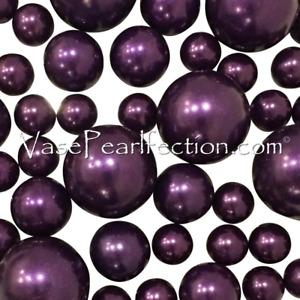 Floating Plum Pearls - No Hole Jumbo/Assorted Sizes Vase Decorations