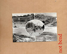 Folkstone Multiview real photo 1930's unposted art