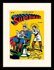 Superman Barbiere con Cornice & Stampa Montata