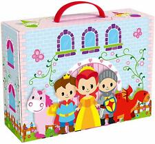 Wooden Princess Storytelling Playset With Castle Themed Box Packaging
