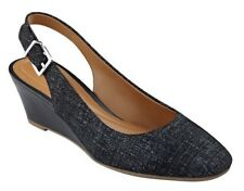 bece325f4840 Easy Spirit 8.5 M Safra Black Leather Ultra Lightweight Slingback PUMPS