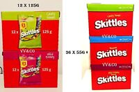SKITTLES  SWEET (12 x 125g / 36 x 55g) WILD BERRY / TROPICAL & CRAZY SOURS BOXES