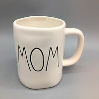 Rae Dunn MOM Coffee Mug Artisan Collection Black Letters LL Mothers Day Gift NEW