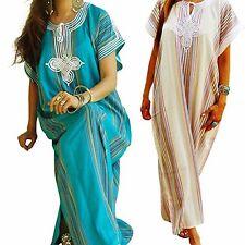 Moroccan kaftan robe maxi, (plage, fête...) taille unique, Gandoura, Farasha