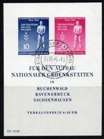 East Germany Miniature Sheet of Stamps c1955 (April) Fine Used (8108)