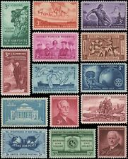 US #1029//1072 MNH 1954-1955 commemorative year set of 14 stamps