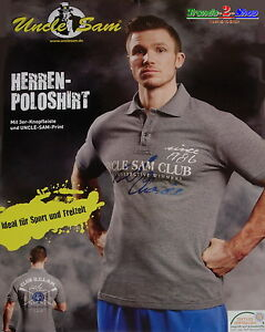 Uncle Sam Poloshirt Fitness Sport Freizeit T-Shirt Polohemd kurzarm Hemd Shirt C