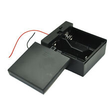 D Size DC 2 Cells Battery Power Supply Holder Case Box with Wire Cover & Switch
