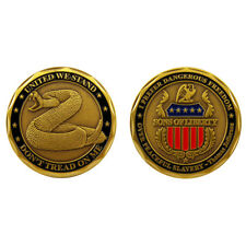 United We Stand Don't Tread On Me Sons of Liberty Challenge Collectible Coin
