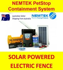 Solar powered electric dog fence containment system dog boundary energizer