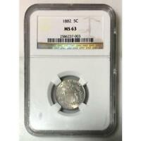 1882 Shield Nickel NGC MS63 *Rev Tye's* #7003199