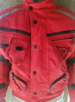 DAINESE ARMORED Motorcycle Jacket Size 46 Mens S/Small TOURING Plated Mesh Red