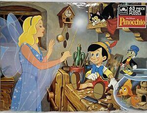 "Walt Disney's ""Pinocchio"" 63 Piece Floor Puzzle Brand New Sealed. Golden 17""x22"""