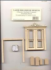 Half 1/24 Scale - Arched French Door LD0427 dollhouse miniature USA GA