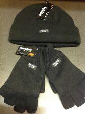 Thinsulate Bennie hat and thinsulate fingerless gloves set
