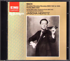 Jascha HEIFETZ BACH Solo Violin Sonata No.1 3 Partita Nr.2 Enflish Suite No.3 CD