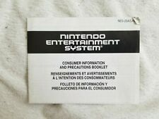 Nintendo NES Manual - Consumer Information and Precautions