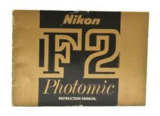Original Nikon F2 Photomic Instruction Manual, c-1972