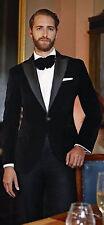 Hombre Elegante Boda Novio Designer Black Chaqueta de Fumar Ropa Fiesta Blazer