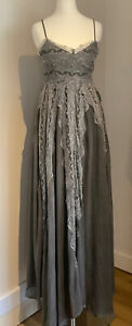 Religion Angel Lace Maxi Dress Black/grey Size XS/8/36