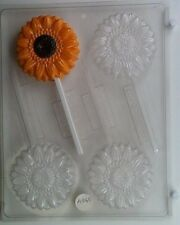 SUNFLOWER LOLLIPOP CLEAR PLASTIC CHOCOLATE CANDY MOLD AO065