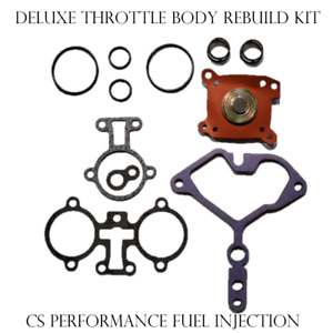 DELUXE GM Throttle Body TBI Fuel Injector Rebuild Kit O-rings Gaskets Diaphragm