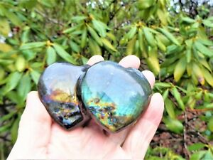 TWIN HEART Labradorite African Gold-Blue Sheen-Creativity-Inner Joy-Happy Energy