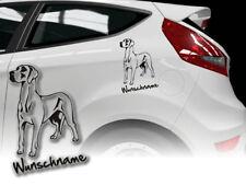 Aufkleber Great Dane Deutsche Dogge H207 Wunschname Auto