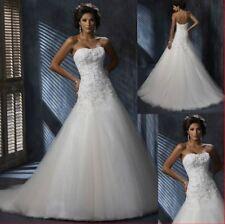 Robe de mariée neuve en tulle :  coloris blanc Taille 48 - LIVRABLE DE SUITE