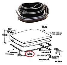 Side + Rear Roof Turret Rubber Drip For Toyota Land Cruiser BJ42 FJ40 W/O Trim