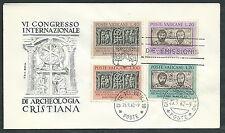 1962 VATICANO FDC RODIA ARCHEOLOGIA CRISTIANA NO TIMBRO DI ARRIVO - VT1