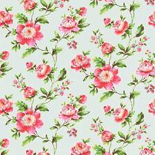 Verde Azulado envejecido chic Rosa Papel Pintado - Rasch 442229 floral