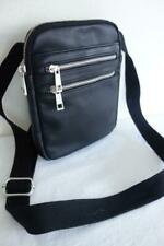 BNWOT Unisex Carpisa Black Leather Cross Body Shoulder Travel Bag
