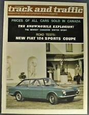1967 Fiat 124 Sport Coupe Road Test Catalog Brochure Excellent Original 67