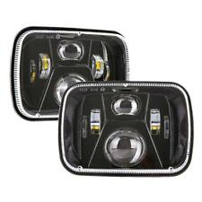 Pair DOT Approved 110W 5x7'' 7x6 inch Led Headlights for Jeep Cherokee Chevrolet