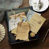 100pcs /set Vintage Paper Notes Sticker Self Adhesive DIY Scrapbooking L8I8