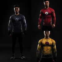 Compression Marvel Superhero The Flash Men's T-Shirt Sports Gym Cycling Jersey