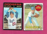 1969 AND 1971 TOPPS DODGERS DON SUTTON VG+  CARD (INV# C5801)