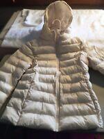 UniQlo Women's Ultra Light Premium Down Packable Puffer Jacket White Sz13