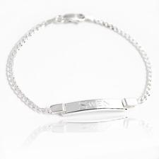 925 Sterling Silver Ladies Men ID Identity Engraving 19,21,23 CM Bracelet - Gift