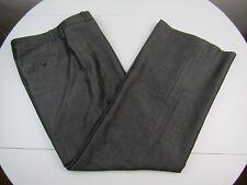 "Ann Taylor Loft ""Ann"" Womens Wool Blend Brown Pinstriped Lined Dress Pants sz 8"
