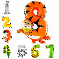 2/10Pcs Baby Shower Balloons Birthday Party Decorations Boy Girl Cartoon Animal