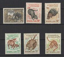 animaux poste Aérienne 1965 Royaume du Laos 6 timbres neufs /T995