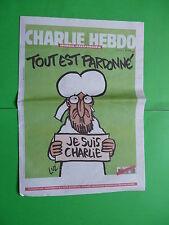 CHARLIE HEBDO journal 14 Janvier 2015 Tout est pardonné Je suis Charlie