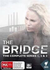The Bridge : Series 1 + 2 + 3  (DVD, 2016, 9-Disc Set) BRAND NEW SEALED