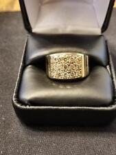 DIAMOND RING MEN IN 14 K YELLOW GOLD