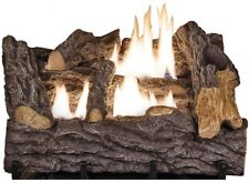 Dual Fuel Fireplace Log Set Natural Gas or Propane LP Vent Free Decorative Logs
