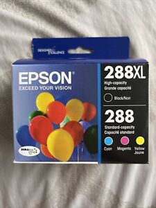 Epson 288XL Black 288 Cyan Magenta Yellow Ink Cartridges Exp 09/2023 SEALED